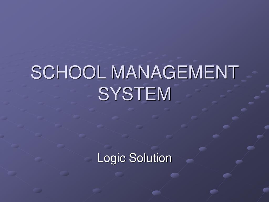 school management system l.