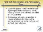 f242 self determination and participation cont