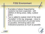 f252 environment