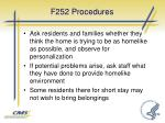 f252 procedures