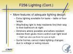 f256 lighting cont