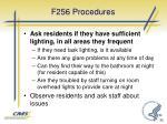 f256 procedures
