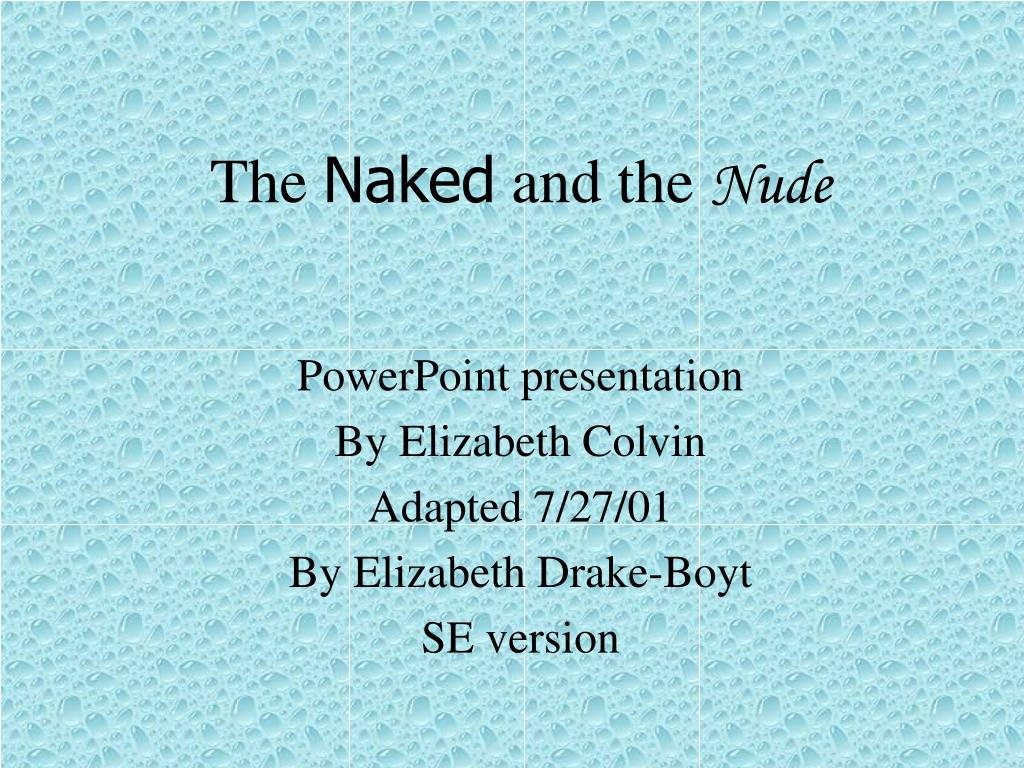 the naked and the nude l.