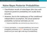 na ve bayes posterior probabilities