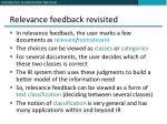 relevance feedback revisited