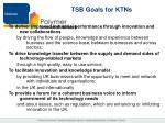 tsb goals for ktns