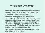 mediation dynamics