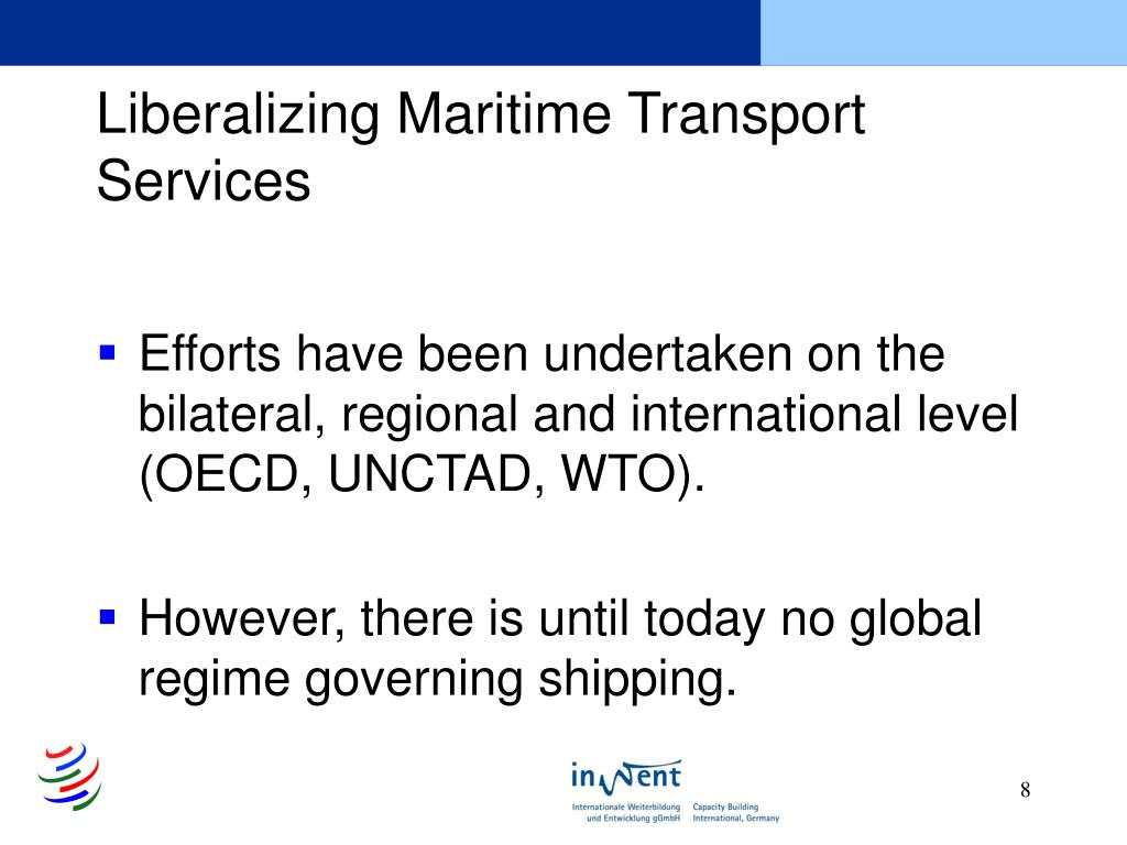 Liberalizing Maritime Transport Services