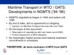 maritime transport in wto gats developments in ngmts 94 96