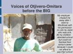 voices of otjivero omitara before the big13