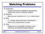 matching problems