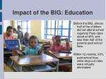 impact of the big education