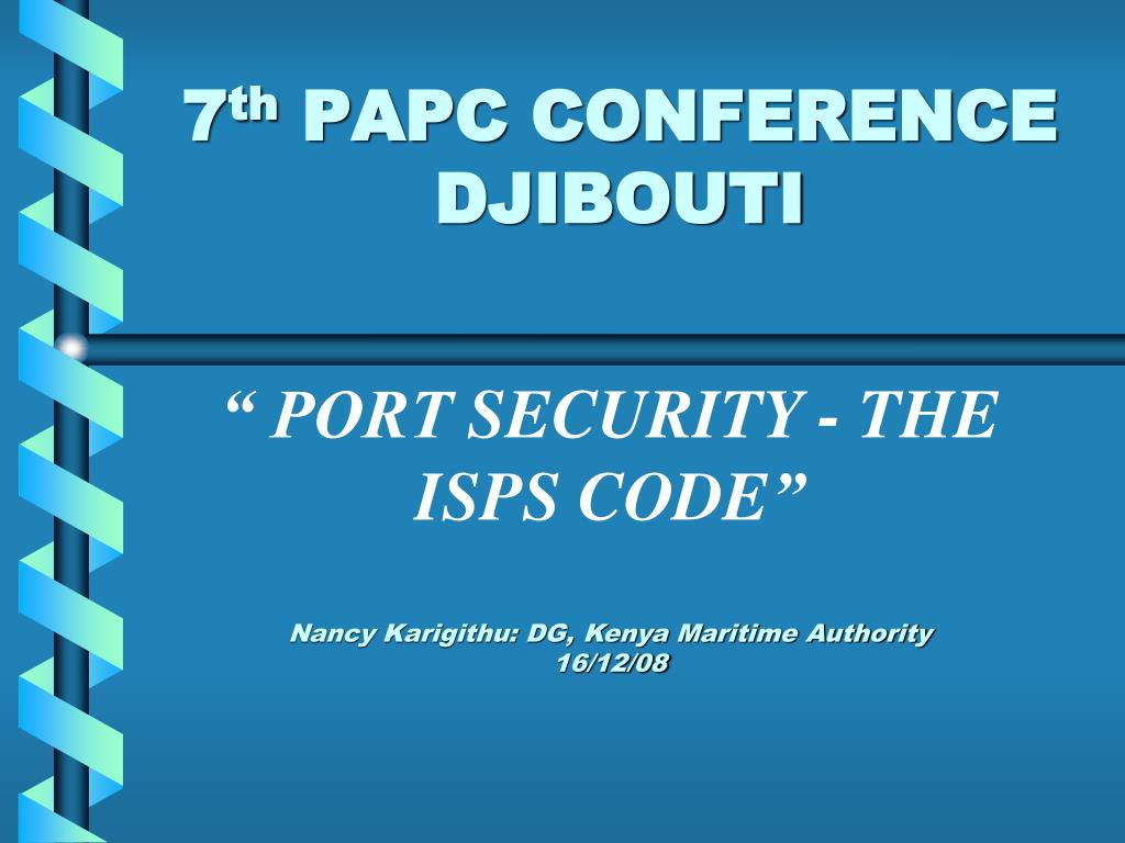 7 th papc conference djibouti l.