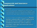 commercial and insurance implications