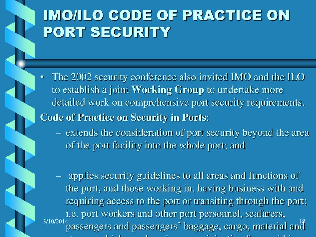 IMO/ILO CODE OF PRACTICE ON PORT SECURITY