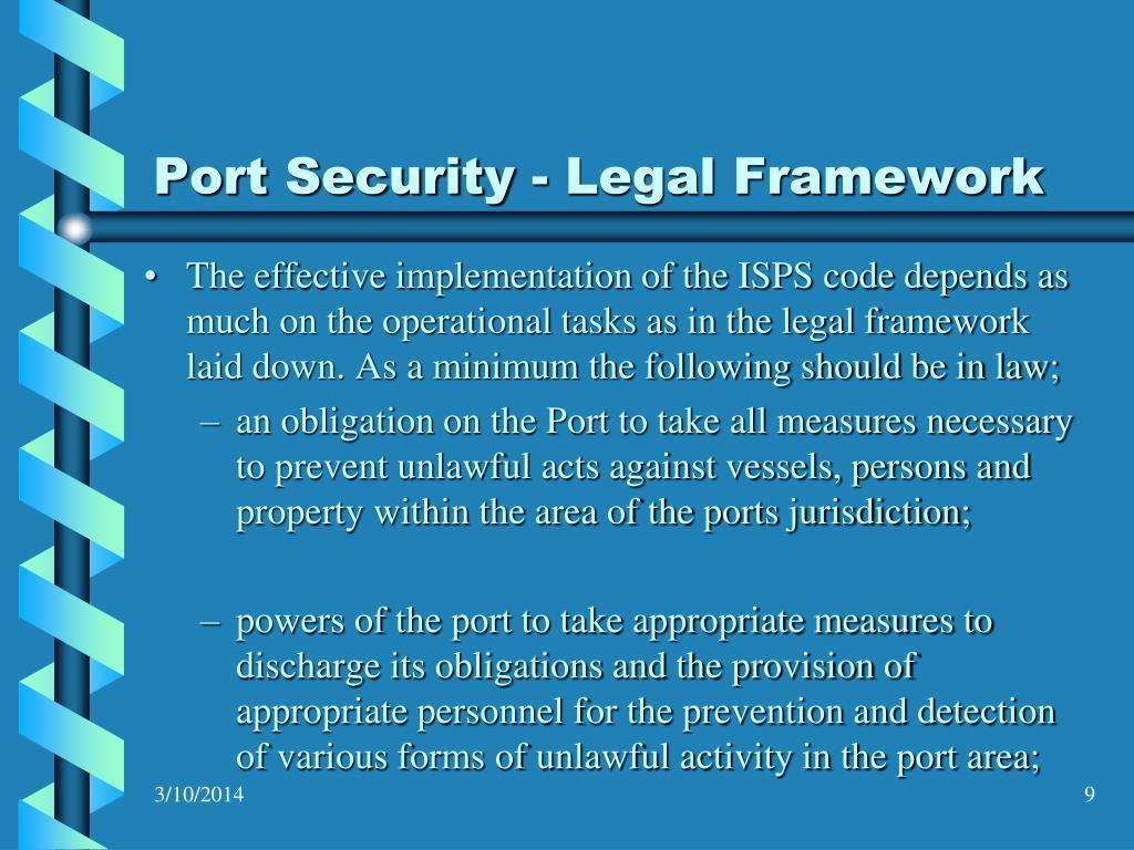 Port Security - Legal Framework