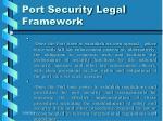 port security legal framework10
