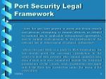 port security legal framework11