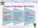 scope of namibian sdi policy