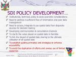 sdi policy development17