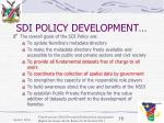 sdi policy development18