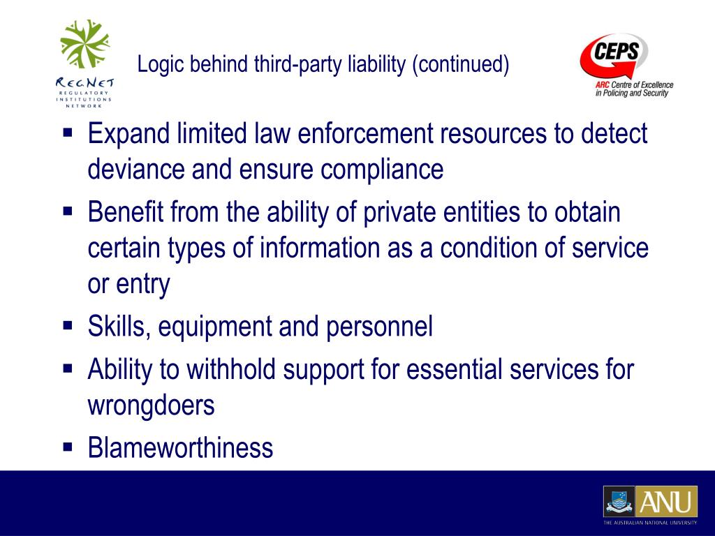 Logic behind third-party liability (continued)