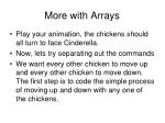 more with arrays