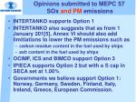 opinions submitted to mepc 57 sox and pm emissions