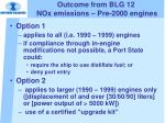 outcome from blg 12 nox emissions pre 2000 engines10