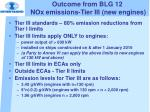 outcome from blg 12 nox emissions tier iii new engines