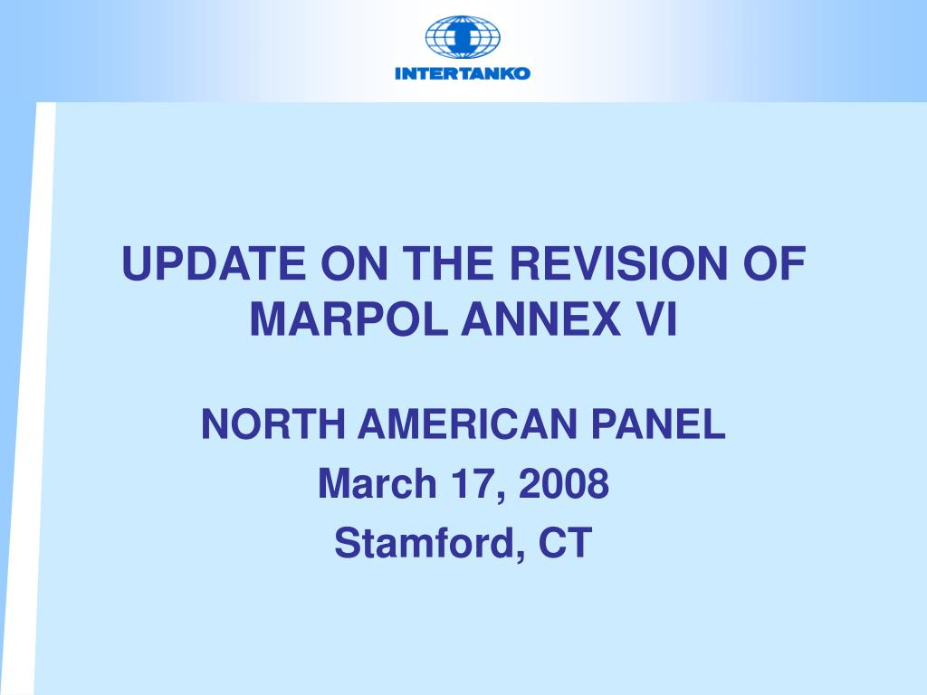 update on the revision of marpol annex vi l.