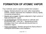 formation of atomic vapor