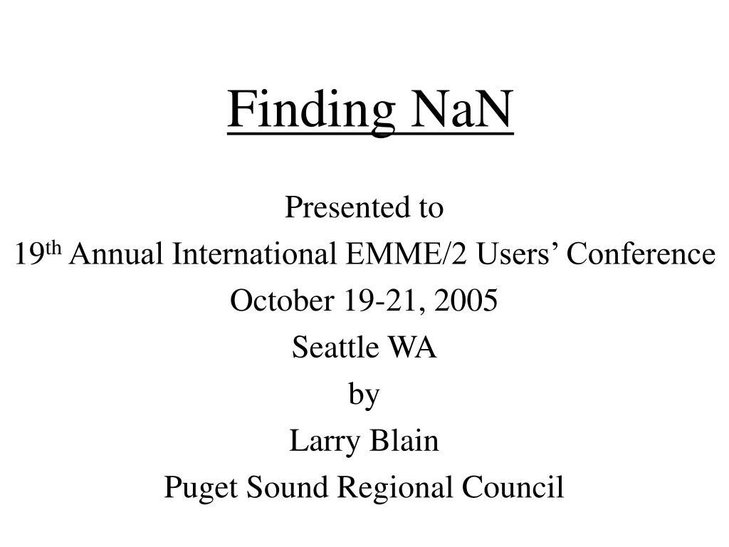 finding nan l.