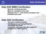 daily certification