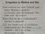 emigration to medina and war