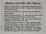 medina and war with mecca