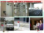 access control and time attendance systems
