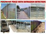 perimeter fence with intrusion detection