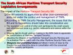 the south african maritime transport security legislative arrangements10