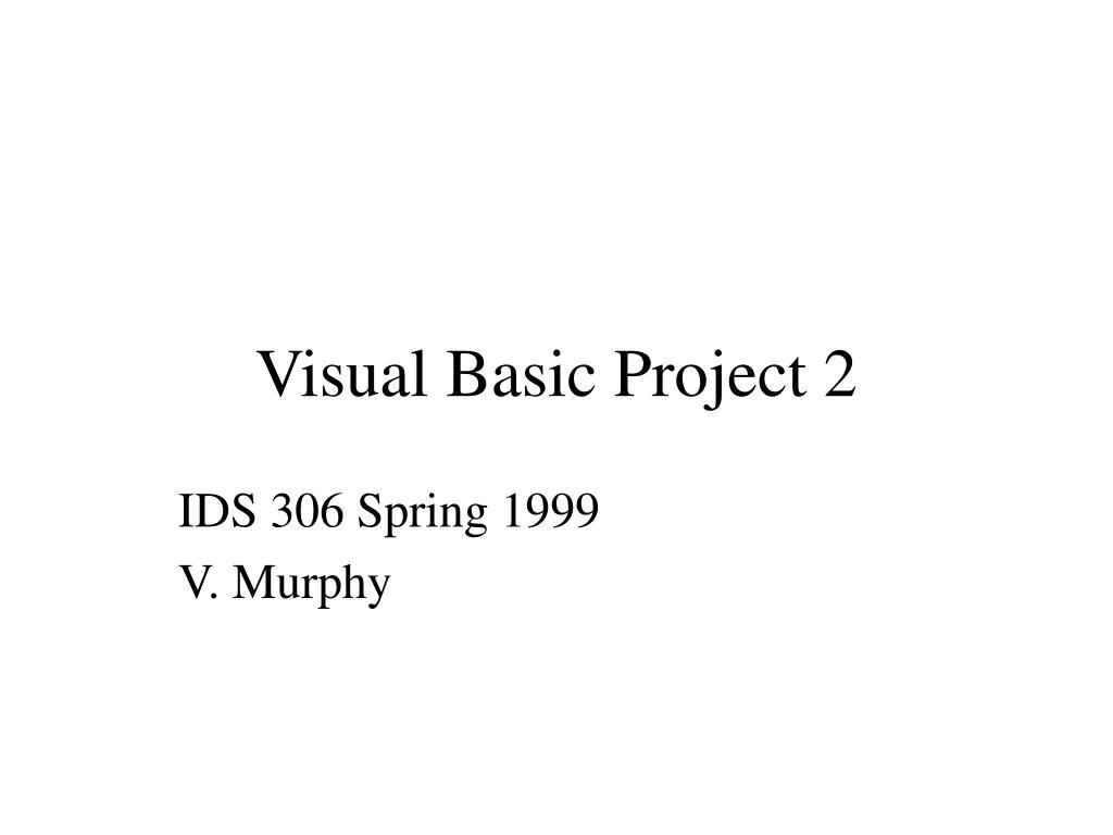 visual basic project 2 l.