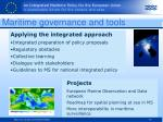 maritime governance and tools