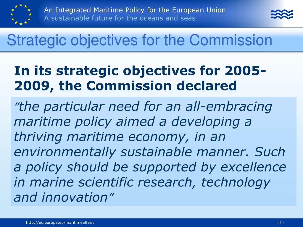 Strategic objectives for the Commission