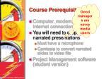 course prerequisites2