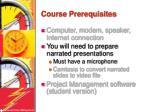 course prerequisites3