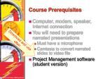 course prerequisites5
