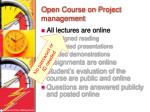 open course on project management