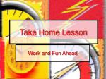 take home lesson