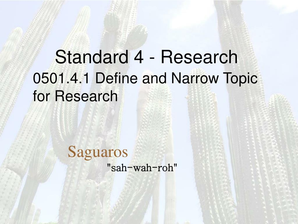standard 4 research l.