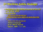 3 rd maritime safety package