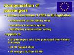 compensation of passengers